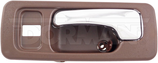 Interior Door Handle Front Left With Lock Hole Chrome Brown Dorman 92431